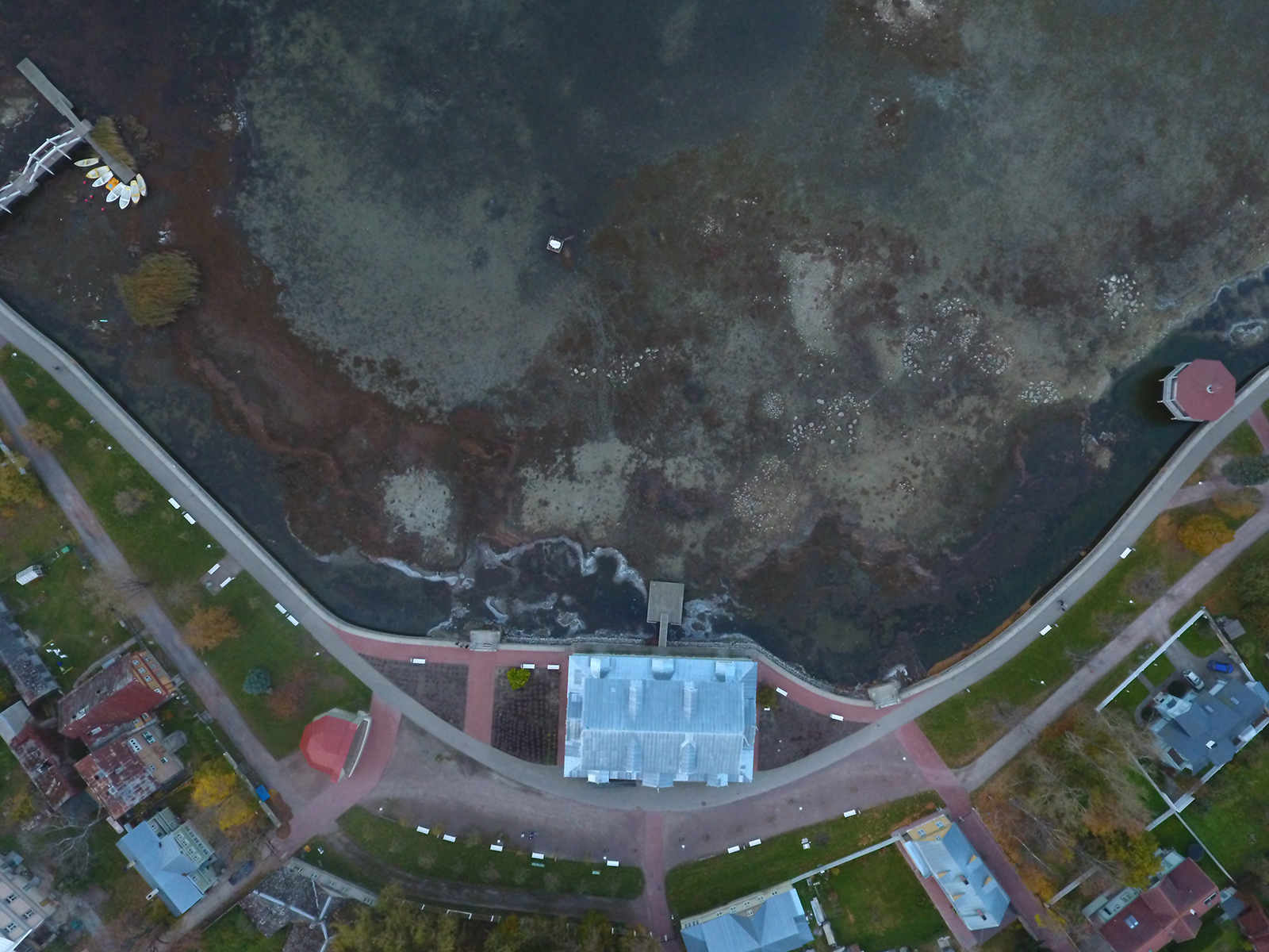 Drone Footage: Haapsalu Promenade Low Water Level – October vs August