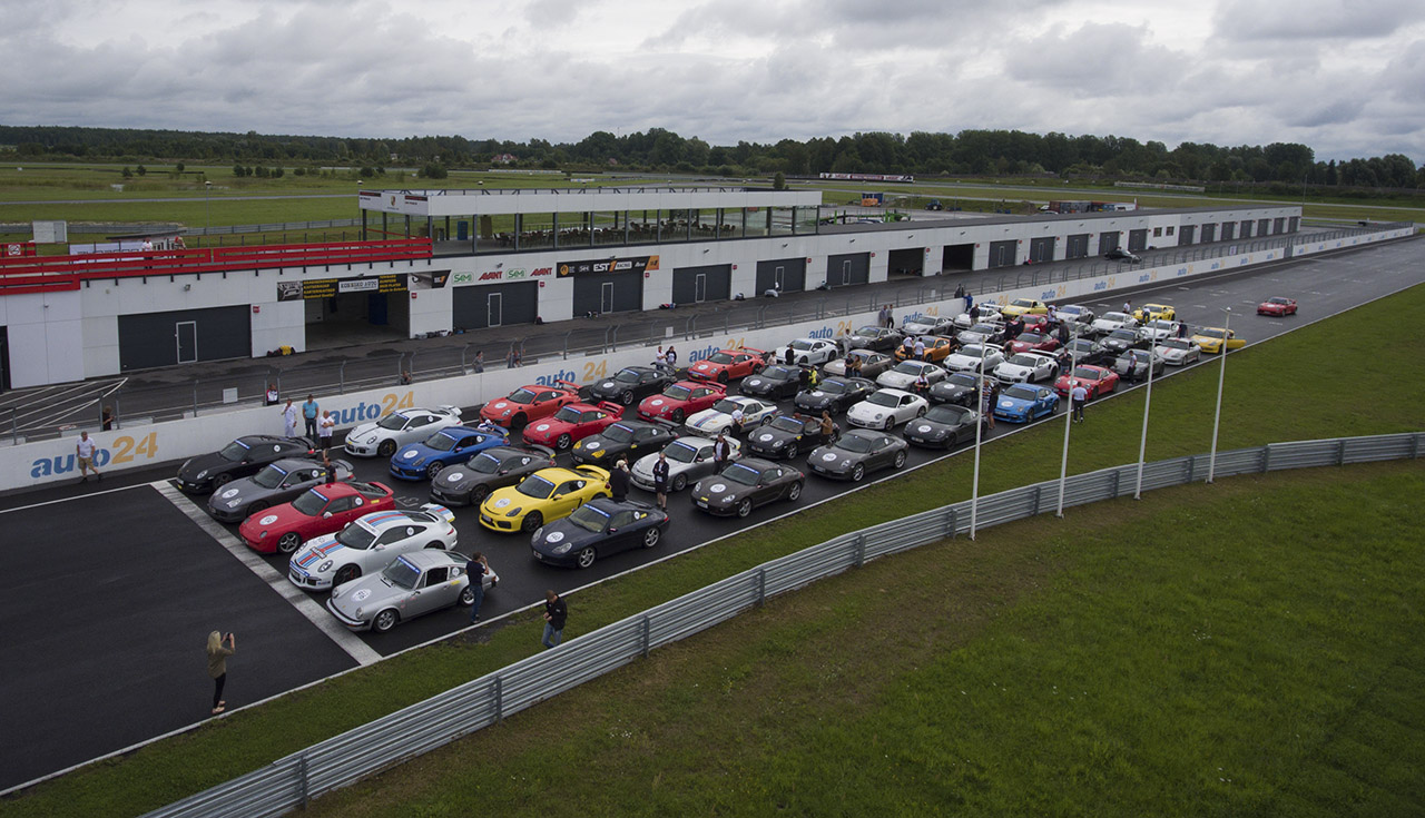 Drone Action: Porsche Club Estonia International Track Day 2016
