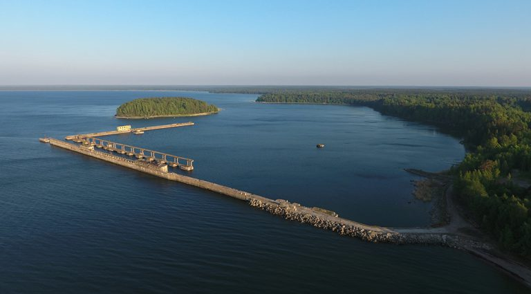 Bird's Eye View of a Soviet-Era Submarine Demagnetizing Base in Estonia's Lahemaa National Park